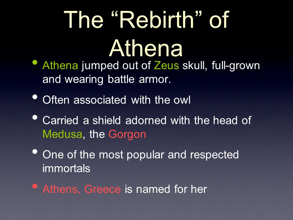 The Rebirth of Athena