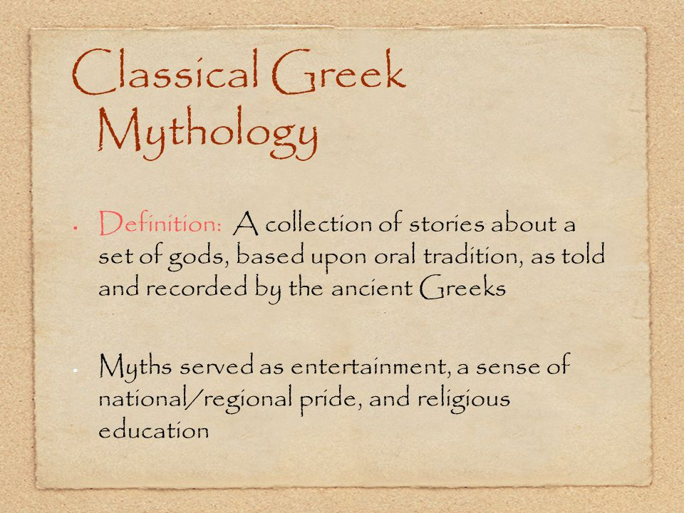 Classical Greek Mythology