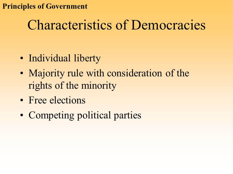 Characteristics of Democracies