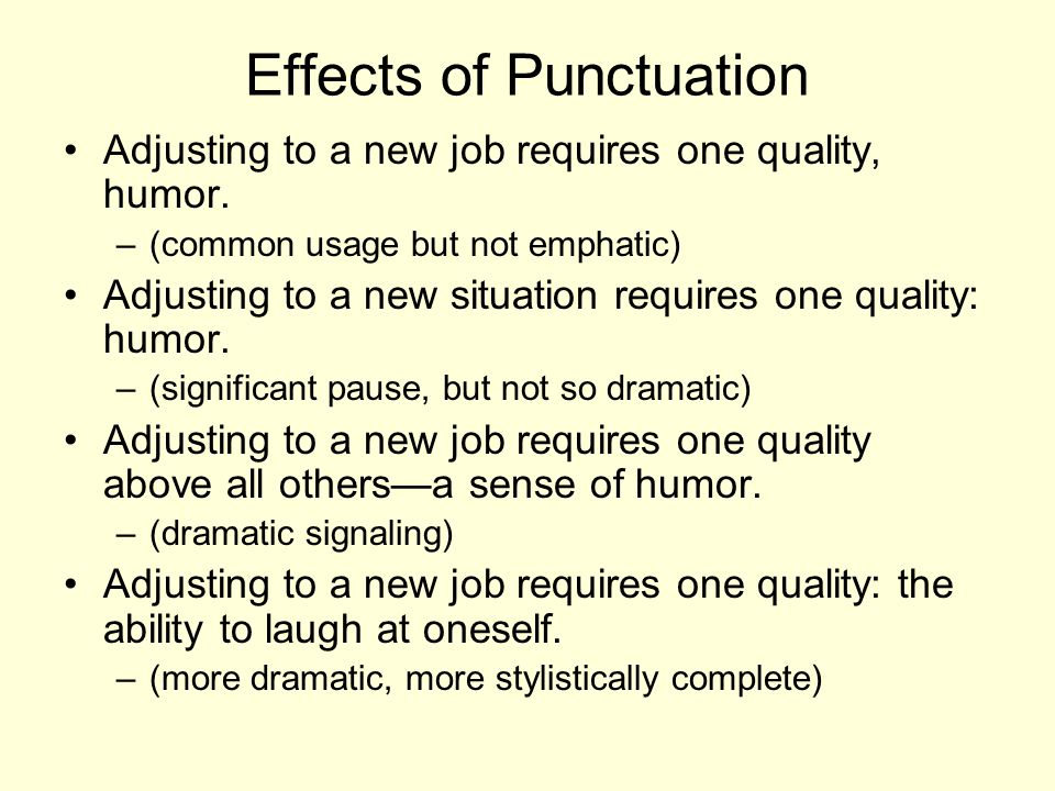 Effects of Punctuation