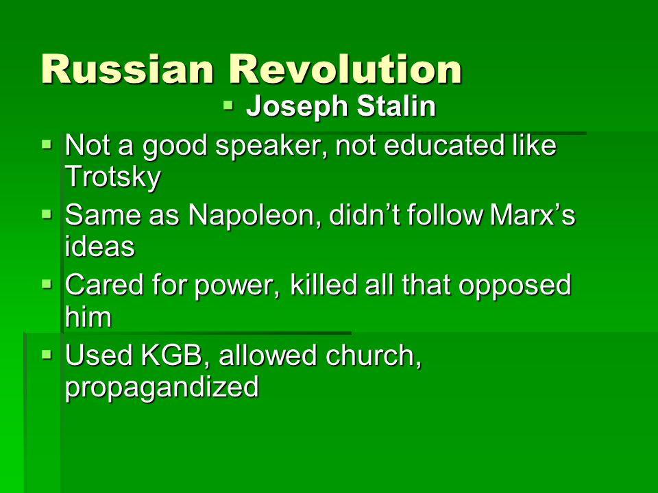 Russian Revolution Joseph Stalin