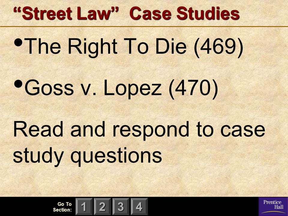 Street Law Case Studies