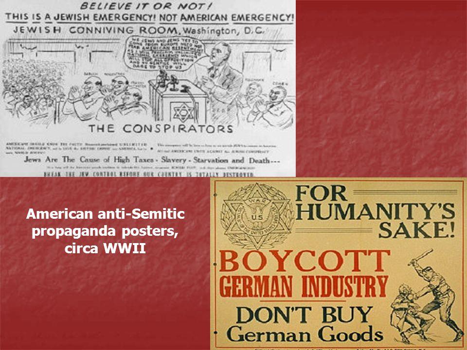 American anti-Semitic propaganda posters, circa WWII