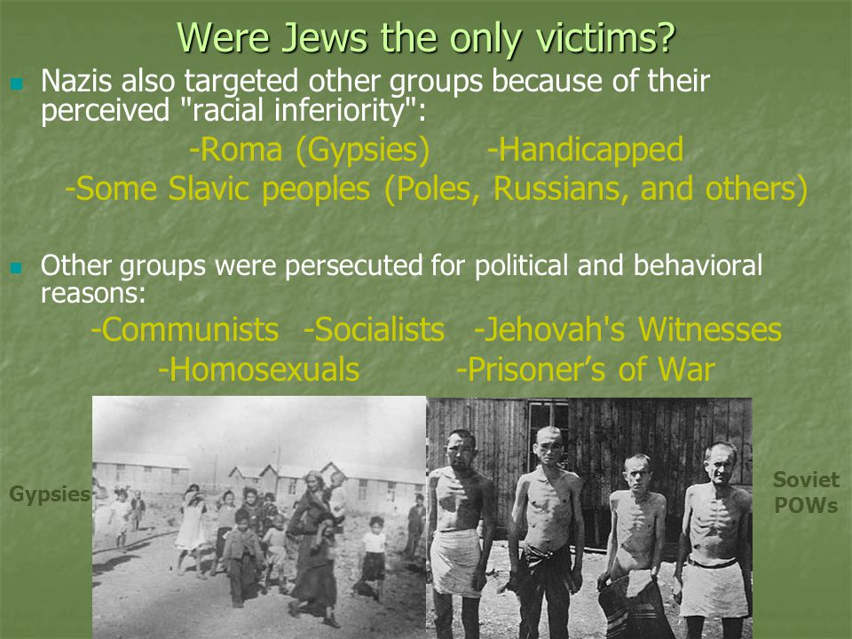Were Jews the only victims