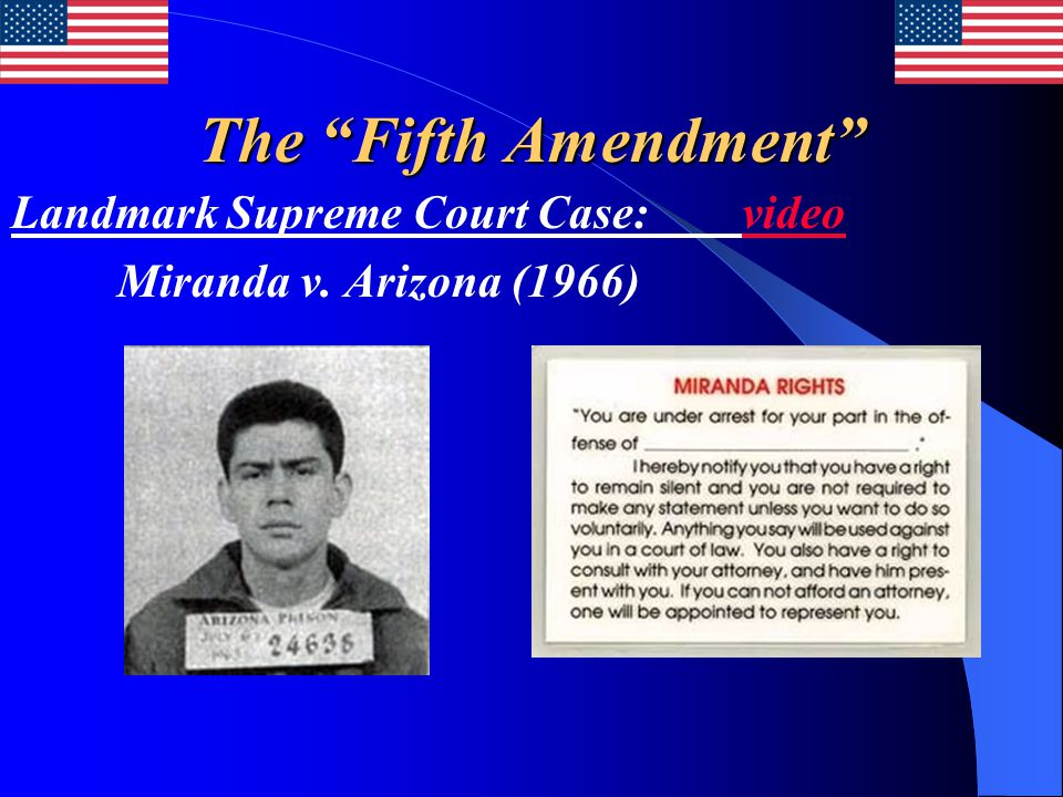 The Fifth Amendment Landmark Supreme Court Case: video