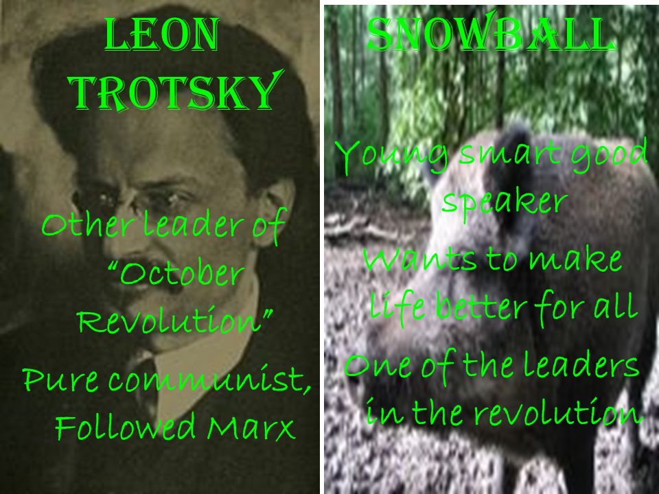 Leon Trotsky Snowball Young smart good speaker