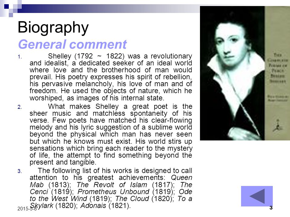 Biography General comment