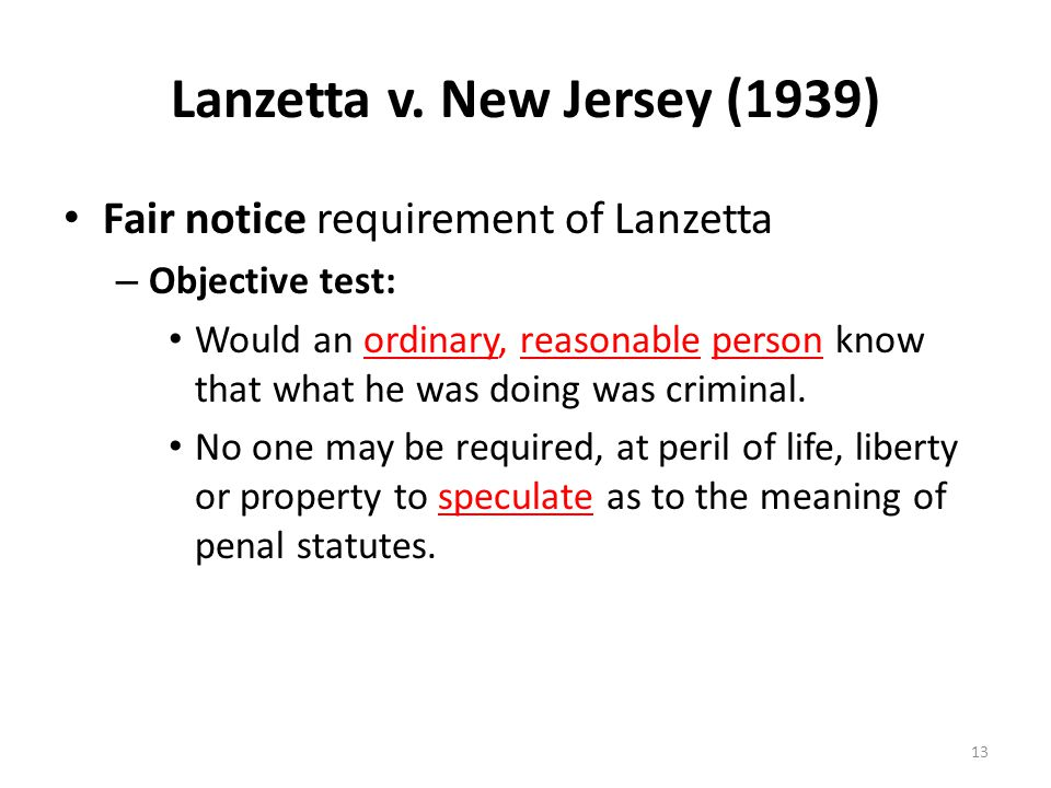 Lanzetta v. New Jersey (1939)