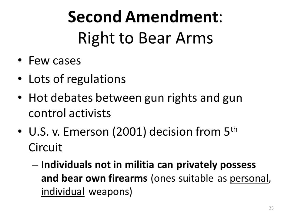 Second Amendment: Right to Bear Arms