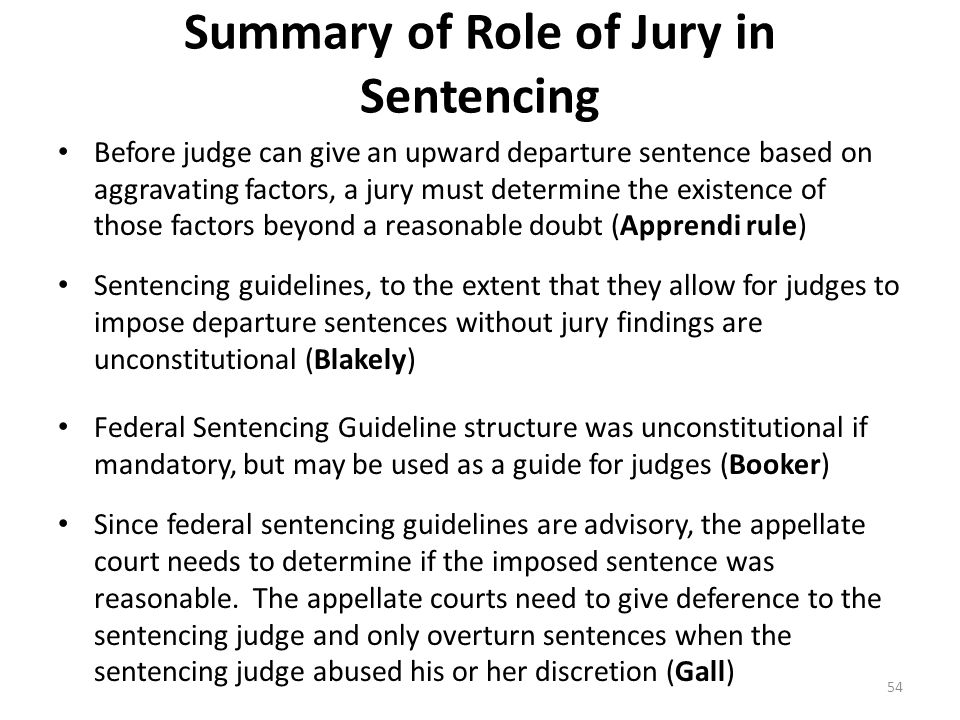 Summary of Role of Jury in Sentencing