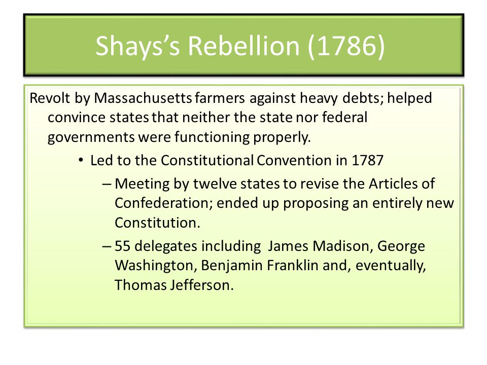 Shays's Rebellion (1786)