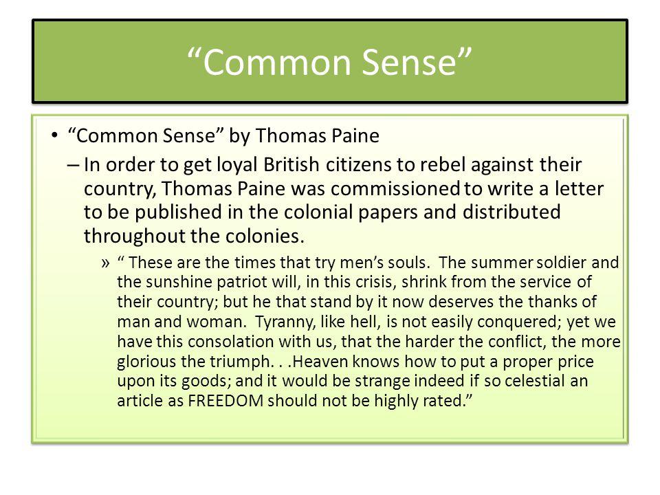 Common Sense Common Sense by Thomas Paine