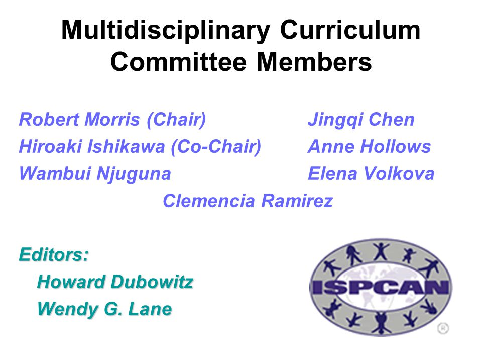 Multidisciplinary Curriculum Committee Members