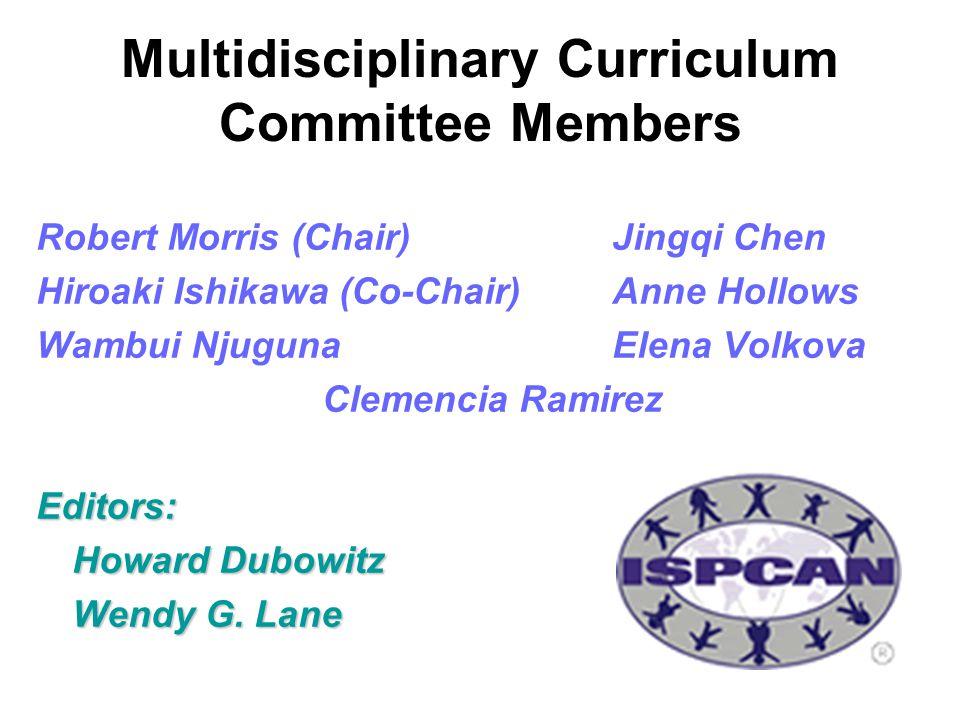Multidisciplinary Curriculum Committee Members