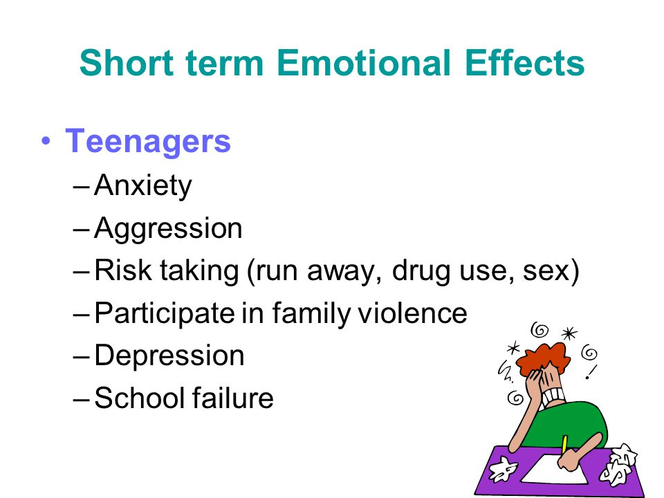 Short term Emotional Effects