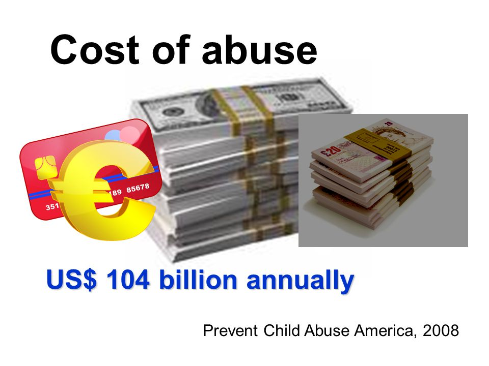 Cost of abuse US$ 104 billion annually