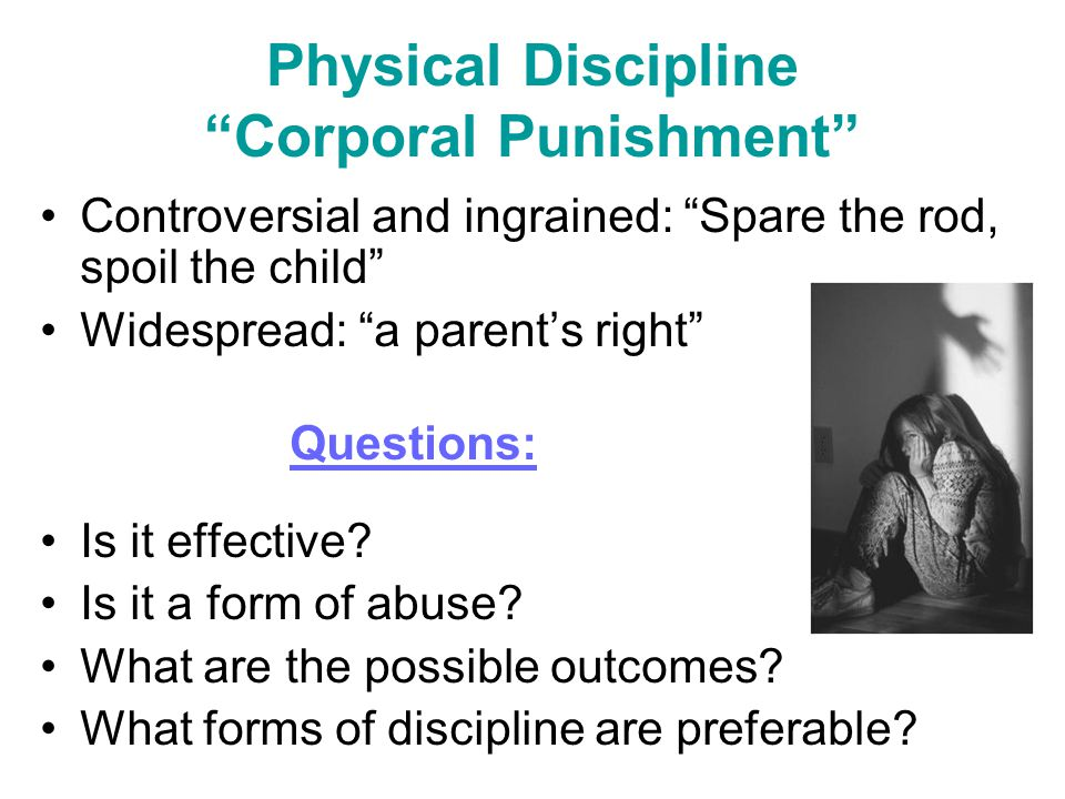 "corporal punishment is physical abuse ""corporal punishment is the use of physical force causing pain, but not wounds, as a means of discipline""  between corporal punishment and physical abuse."
