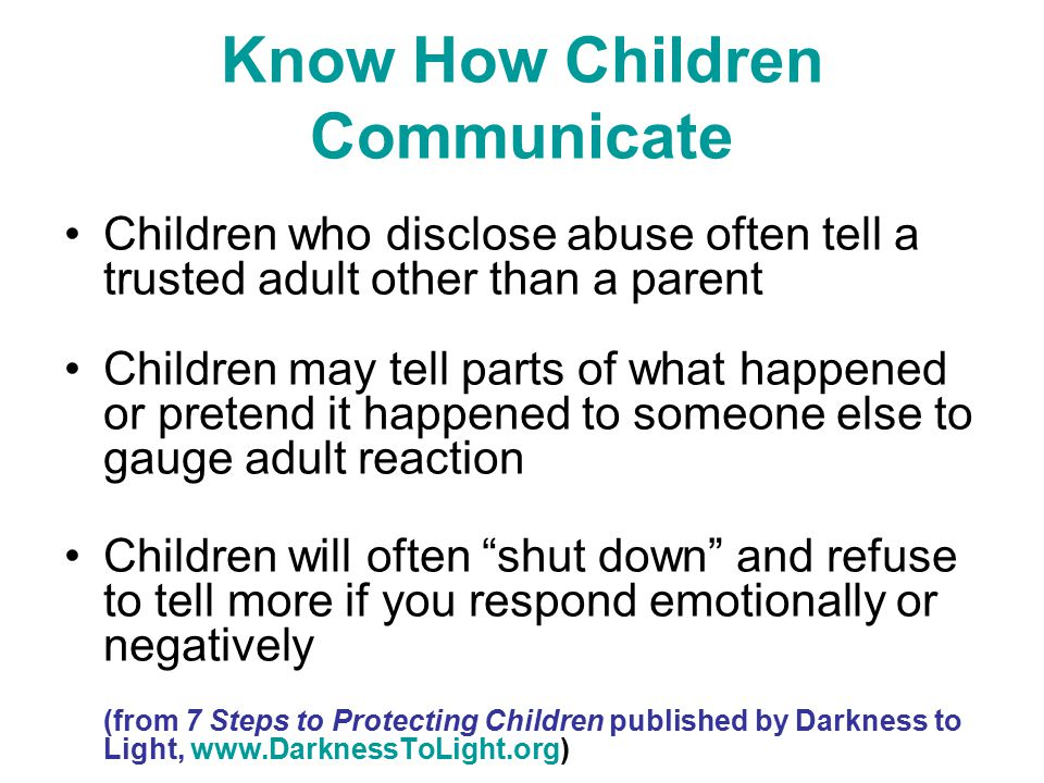 Know How Children Communicate