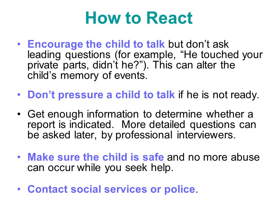 How to React