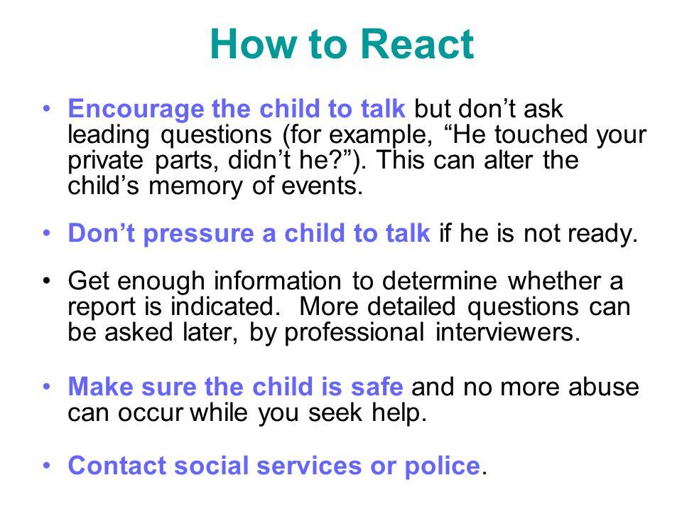 How to React