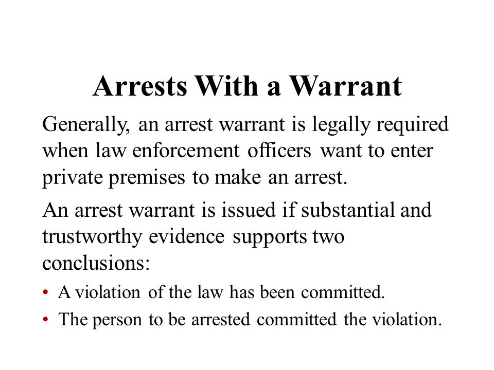 Arrests With a Warrant