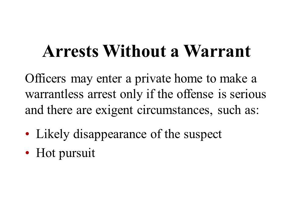 Arrests Without a Warrant