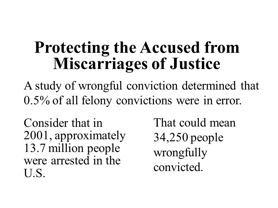 Protecting the Accused from Miscarriages of Justice