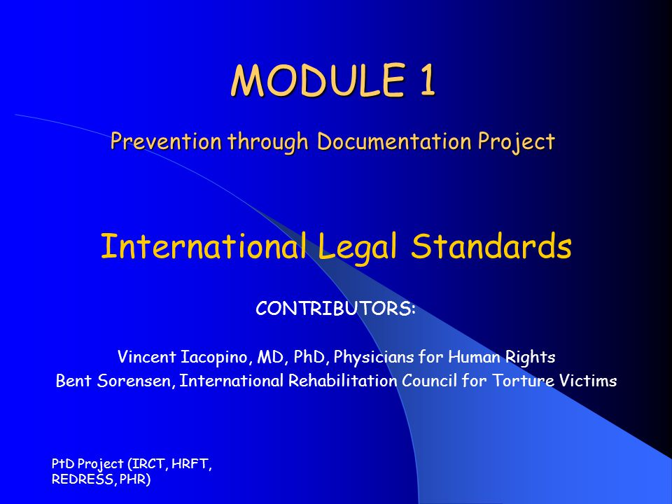 MODULE 1 Prevention through Documentation Project