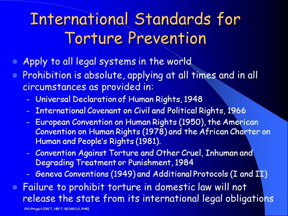 International Standards for Torture Prevention