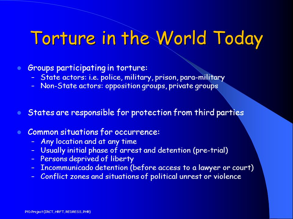 Torture in the World Today