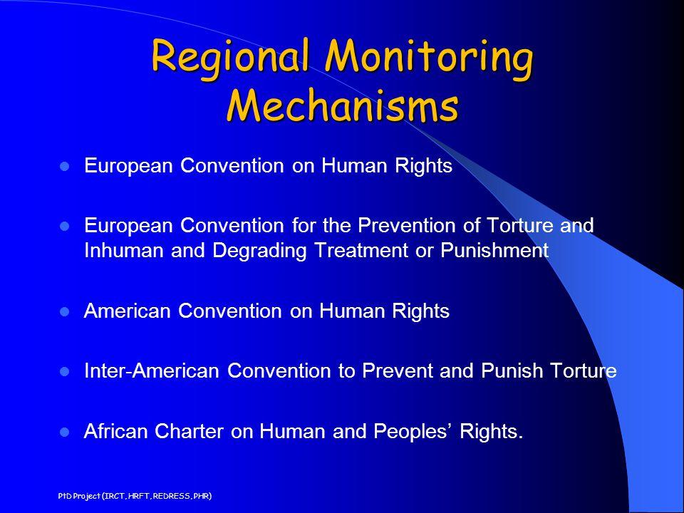Regional Monitoring Mechanisms