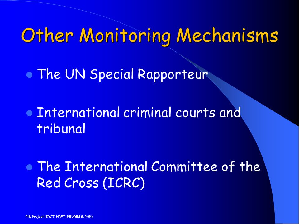Other Monitoring Mechanisms
