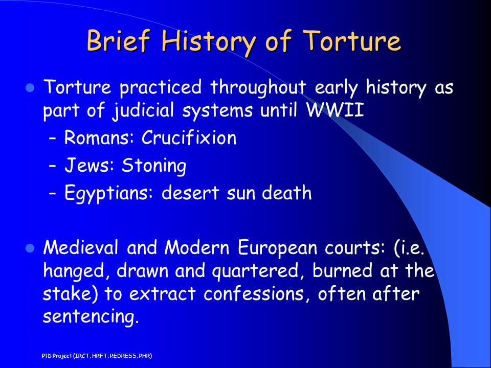 Brief History of Torture