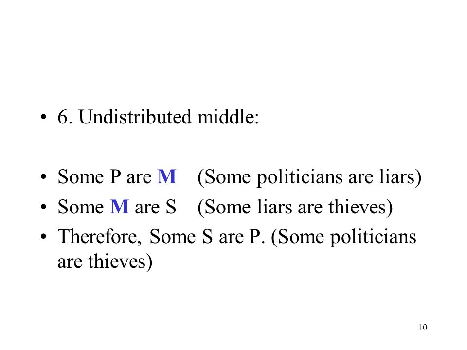 6. Undistributed middle:
