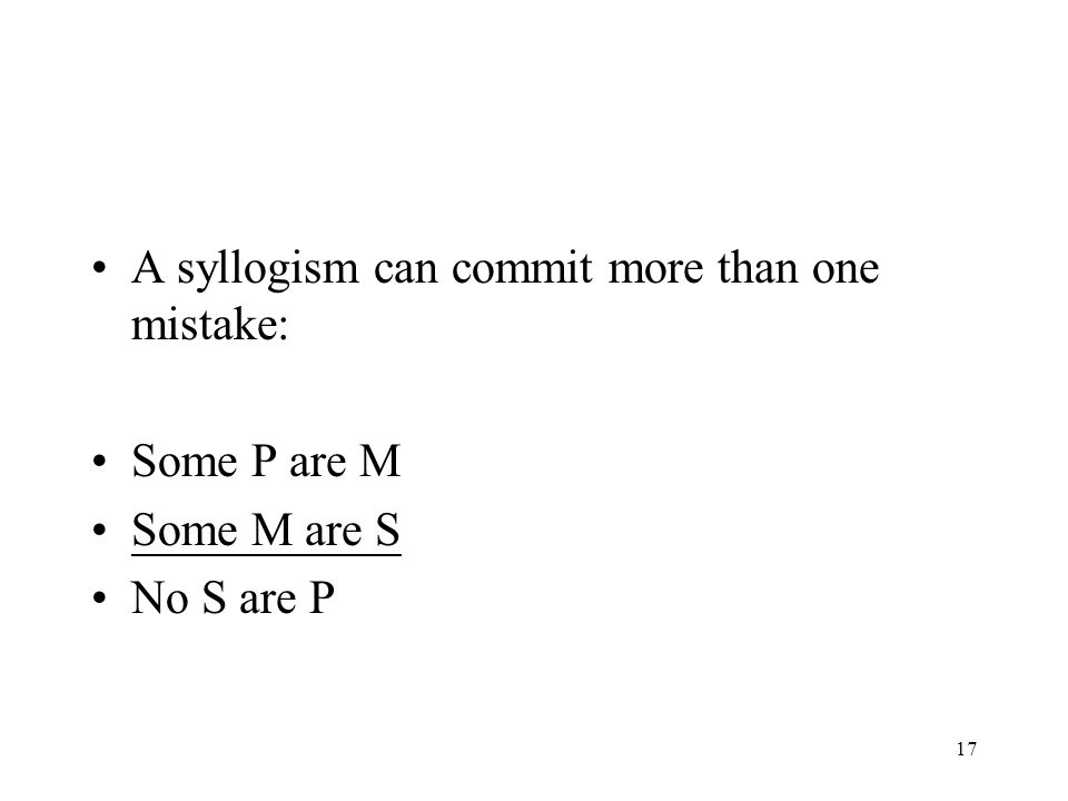 A syllogism can commit more than one mistake: