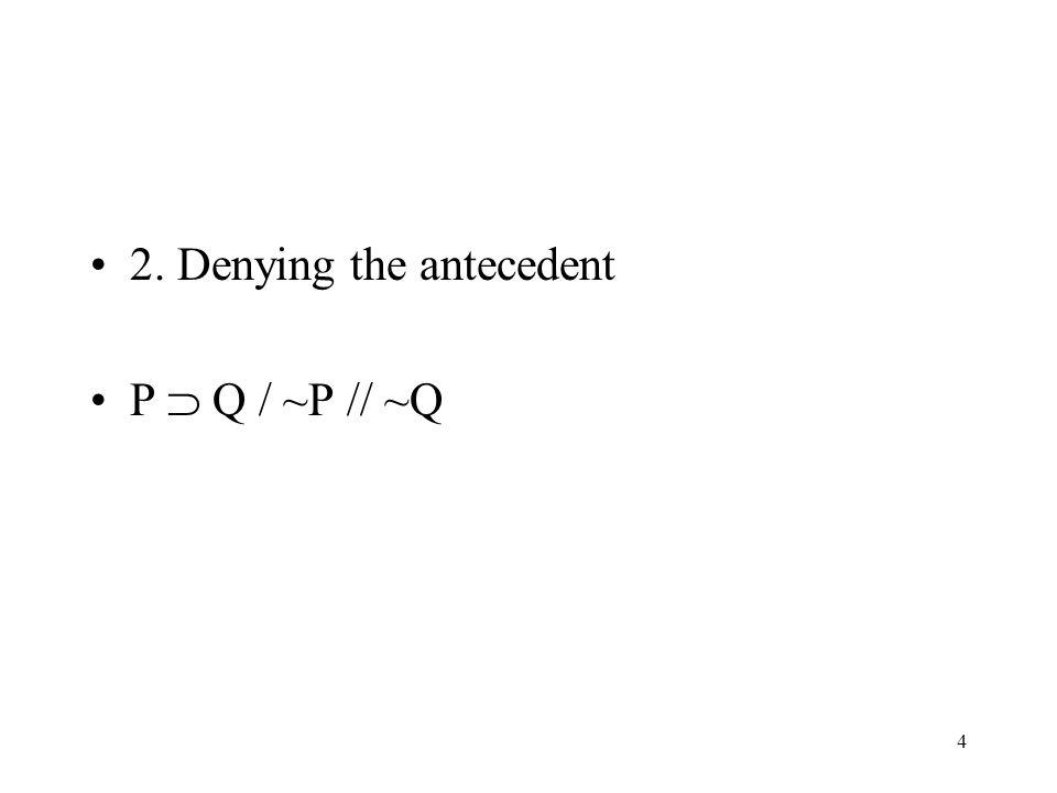 2. Denying the antecedent