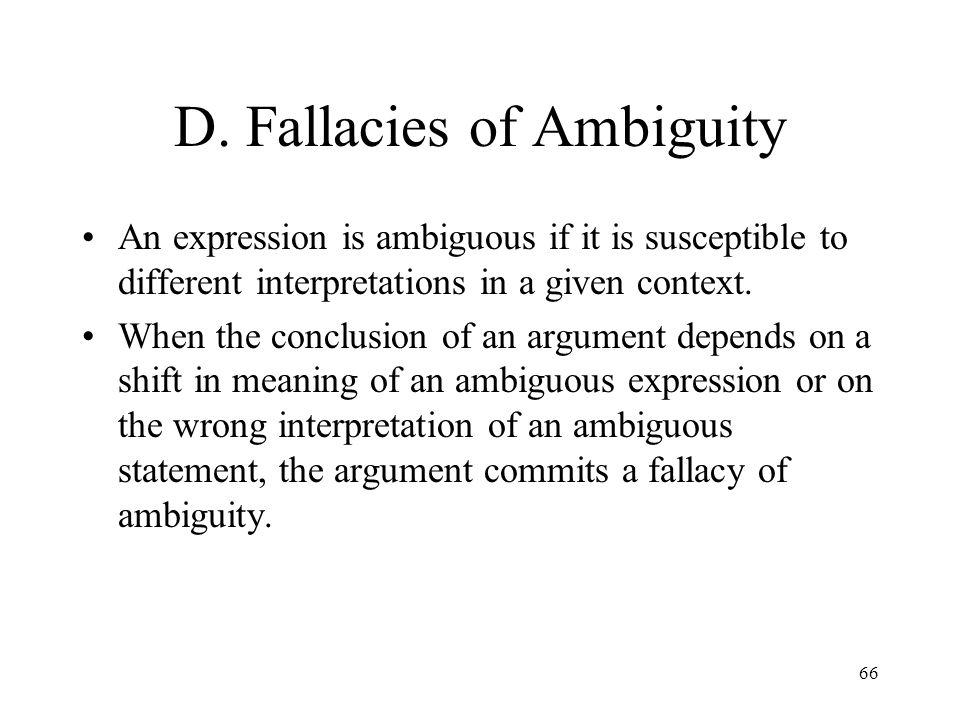 D. Fallacies of Ambiguity