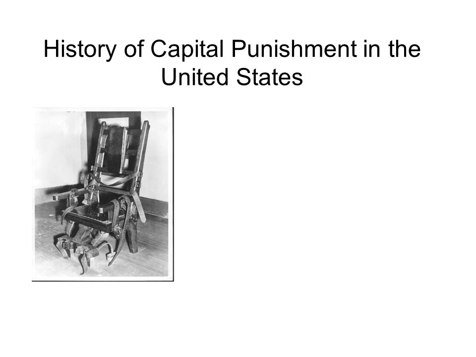 History of Capital Punishment in the United States