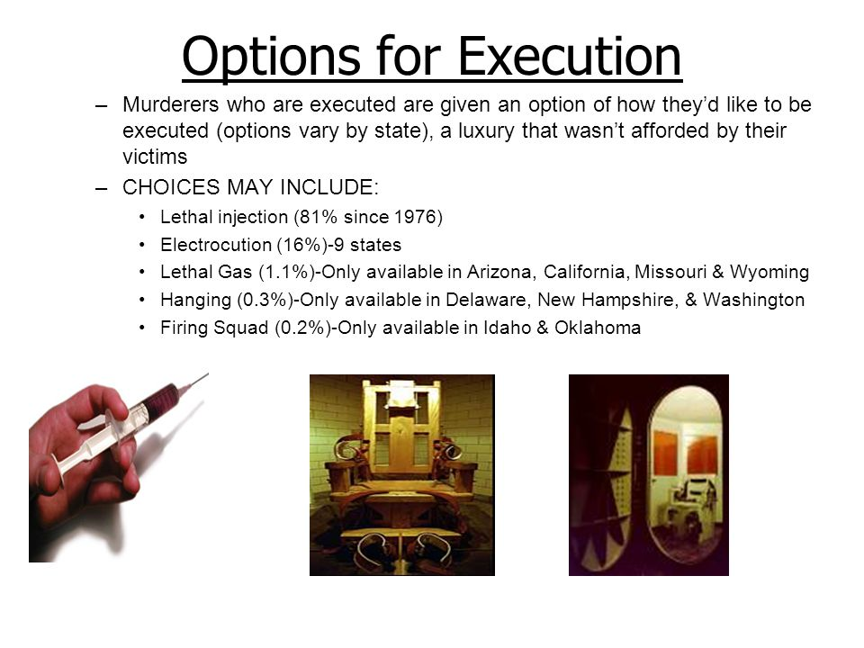 Options for Execution