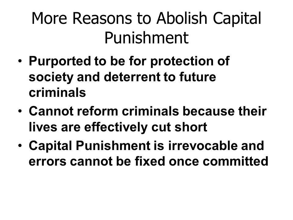 essay on should capital punishment be given to the criminals The arguments for capital punishment falls under many categories retributive or untilitarian the retributive appoarch suggest that criminals must be punished accordingly to the extent of their crimes the punishment should match the crime the utilitarian believes that although crimes are to be punished, death is taking it too far.