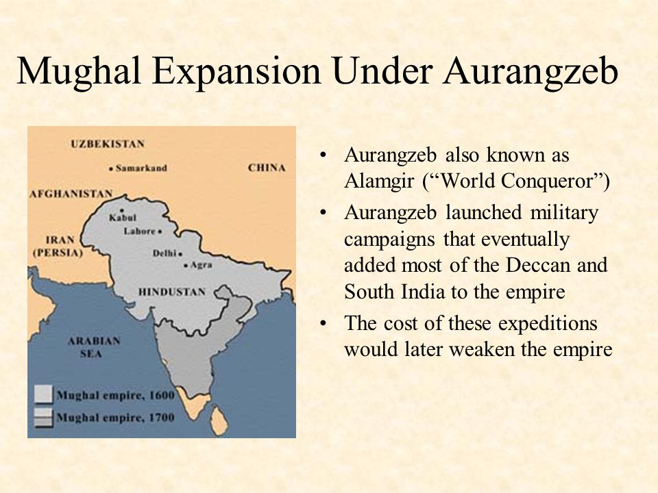 Mughal Expansion Under Aurangzeb
