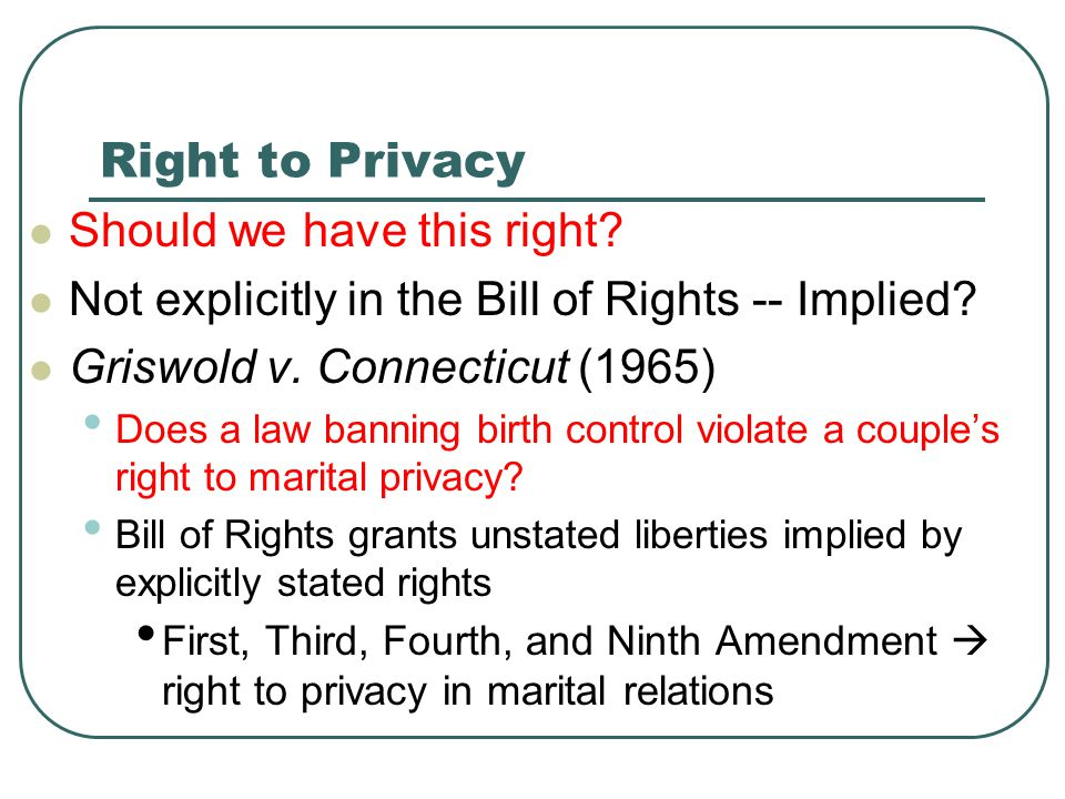 Right to Privacy Should we have this right