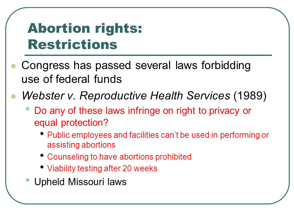 Abortion rights: Restrictions
