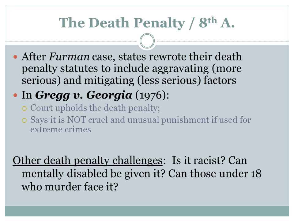 The Death Penalty / 8th A.