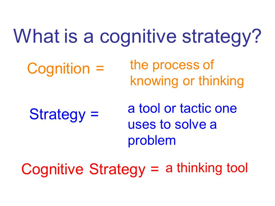 What is a cognitive strategy