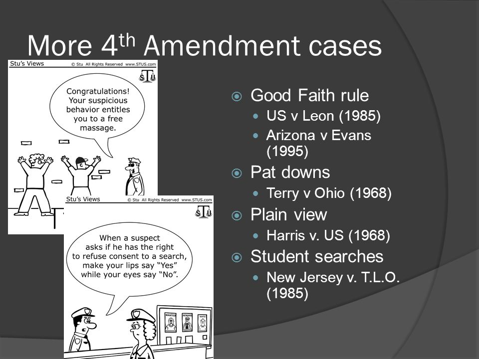 More 4th Amendment cases