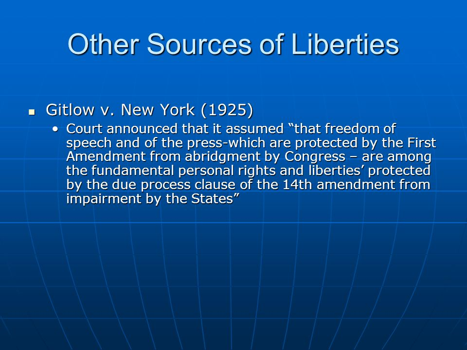 Other Sources of Liberties