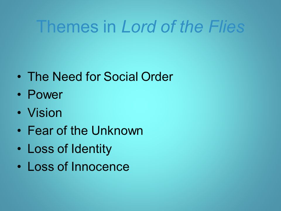 Themes in Lord of the Flies