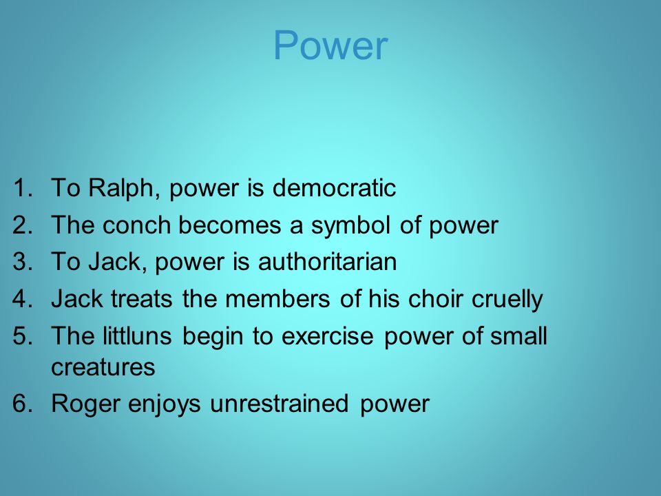 Power To Ralph, power is democratic