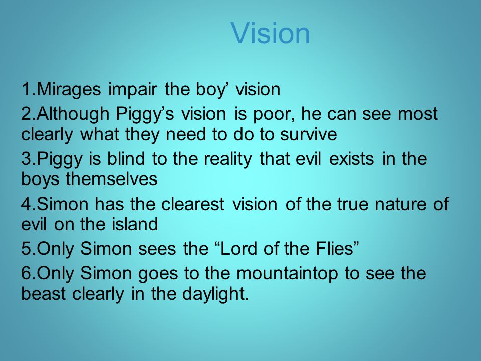 Vision Mirages impair the boy' vision